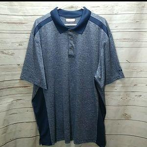 Grand slam 2XL Golf polo blue short sleeve (E-13)